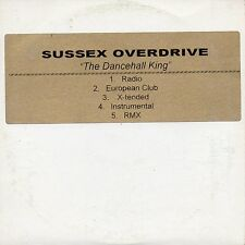 """SUSSEX OVERDRIVE """"THE DANCEHALL KING"""" ULTRA RARE CD MAXI / BREAKBEAT ELECTRONIC"""
