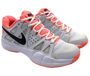 Nike Vapor Advantage White Pink Black Tennis Court Shoes Women's 6 599362-103