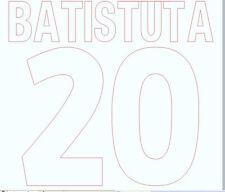 2001-2002 Batistuta 20 Home Roma Football Name set for National shirt