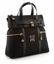 NEW Henri Bendel Jetsetter Convertible Backpack Black With Gold Handbag Purse
