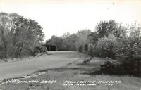 Nashville Indiana~Double-Covered Bridge in Brown County State Park~RPPC c1950