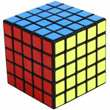 New ShengShou 5x5 Magic Cube 5x5x5 Speed Cube Ultra-smooth Puzzle Twist Black