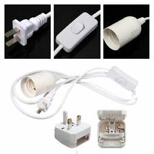 E27 Screw UK Plug In Light Bulb Kit  Lamp Fitting ES Switch Socket Holder NeE