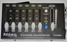 Ibiza 12 Canal Dj Party Lumineuse Controlleur DMX Mini- Tableau de Commande XLR