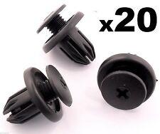 20x Mini Wheel Arch Lining, Splashguard, Bumpers & Sideskirt Plastic Trim Clips