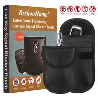 2 x BeskooHome Faraday Bag For Car Keys - [HOOK DESIGN] RFID Key Pouch...
