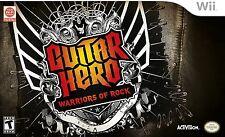 NEW Nintendo Wii Guitar Hero Warriors of Rock Band Bundle Drums Guitar Game &Mic