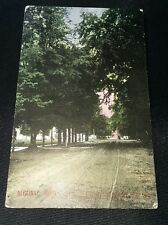 1909 Street Scene Algonac Michigan Postcard
