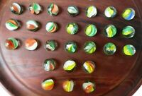 Antique Vintage Marbles Glass Lot of 27 Mixed Cats Eye
