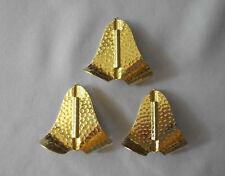 3 Buzz Bait Blades Hammered Brass   *unequaled vibration*