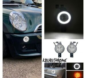 MINI R50 R52 R53 HALO SIDE LIGHT CLEAR LENS COOPER S JCW ONE GP 2001-2008
