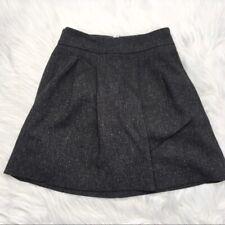 GAP Stretch Dark Grey Black Mini Pleated A-Line Skirt size 0 XS Polyester Blend