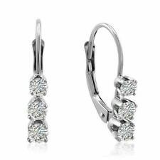 Bliss 14k White Gold 1/2ct TDW Diamond Leverback Earrings (g H I2 I3)