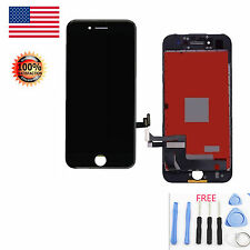 USA Black LCD Display Touch Screen Digitizer Framed Assembly For iPhone 7 4.7''