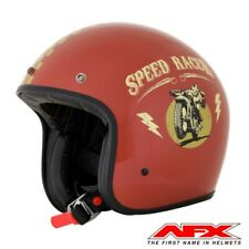 CASQUE MOTO AFX JET VINTAGE 3 4 SPEED RACER RUST GOLD BRILLANT S  MOTOMIKE 34