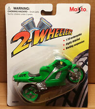 MAISTO Die-Cast- 1/18 Scale Motorcycle Green Honda NR Sportbike detailed replica