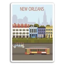 2 x New Orleans USA Vinyl Stickers - Car Van Tool Box Luggage Gift #10928
