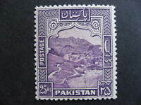 Pakistan Sc 43b MH nice 25r stamp, check it out!