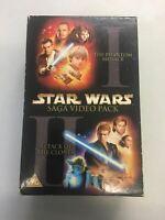 | VHS Tape | Star Wars Saga Video Pack - Phantom Menace - Attack Of The Clones |