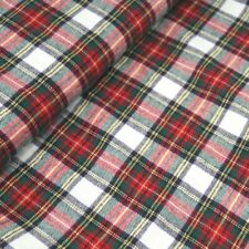 BRUSHED COTTON CHECK FABRIC by metre Mens Boys Pjs Flannel Shirts TARTAN