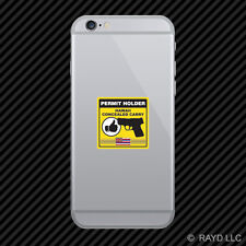 Hawaii Concealed Carry Permit Holder Cell Phone Sticker Mobile 2a permited