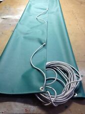 HEAVY DUTY GREEN UNIVERSAL TOWING TRAILER FLAT SHEET COVER 10 FT  X  8 FT