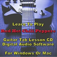 RED HOT CHILI PEPPERS Guitar Tab Lesson Software - 192 Songs