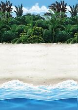 Beach Dance Party Tropical Luau Tiki Photo Backdrop Paper Wall Decoration