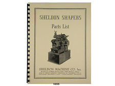 Sheldon Metal Shapers Parts List Manual  *1055