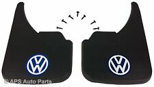 Universal Car Mudflaps Front Rear VW Volkswagen Blue Logo Fox Golf Jetta Guard