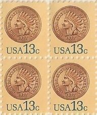 US 1734 Indian Head Penny 13c block MNH 1978