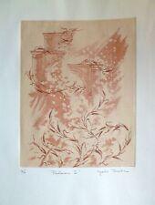 Kyoko Tanaka Gravure Originale signée artiste japonnais