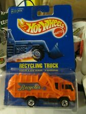 Hot Wheels Recycling Truck #143 Orange All blue card