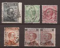 1906 - 1924 EFFIGI DI V.E. III 4 ESEMPLARI E UNA COPPIA USATI E PERFETTI € 8,25