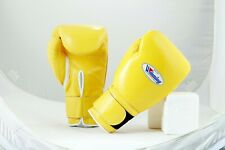 Winning Boxing Gloves(Yellow) Tape Pro Type MS 600B 16 oz Handcrafted