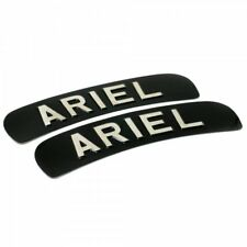Ariel Classic Motorcycle Branded Curved Show Plate Black & Silver SET OF TWO