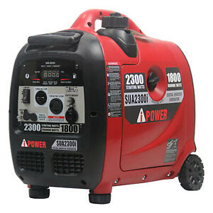 A-iPower SUA2300i Ultra-Quiet Inverter Generator, Mobility Kit - CARB Compliant
