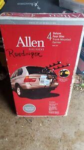 Allen Sports 144A Deluxe 4-Bike Trunk Mount Rack Fits Most Sedans, HB & SUVs