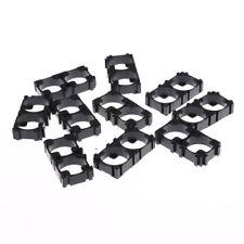10pcs`18650 Batería 2x`Spacer Holder Radiating Shell Pack Plastic Heat Black La