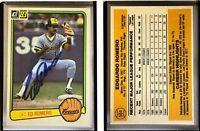 Ed Romero Signed 1983 Donruss #584 Card Milwaukee Brewers Auto Autograph