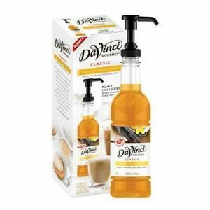 DaVinci Gourmet Syrup w/ Pump 15.89 oz (Pack of 6) x 4  (24 Total)(Vanilla Bean)