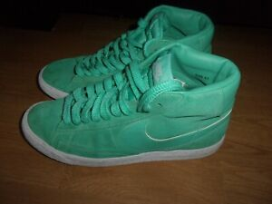 Nike Blazer Mid, Mint Green suede high top ladies trainers size 6