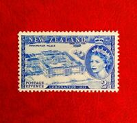 1953 NEW ZEALAND POSTAGE STAMP 2d MINT HINGED QE11 CORONATION