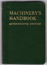 MACHINERY'S HANDBOOK 17th ed. 1964