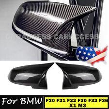 Carbon Fiber Style Rear Mirror Cover Caps For BMW F20 F21 F22 F30 F32 F36 X1 M3