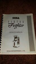Original Sega Virtua Fighter Coin-op Arcade Video Game Manual