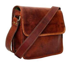 Vintage Handmade Leather Messenger Bag for Laptop Briefcase Satchel 16 inch Men