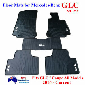 Quality Rubber Floor Mats Tailor Made For Mercedes-Benz GLC / Coupe 2016 - 2019