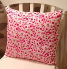 """Clarke and Clarke Shabby Chic Pink Ditsy Rose Floral 16"""" Cushion Cover"""