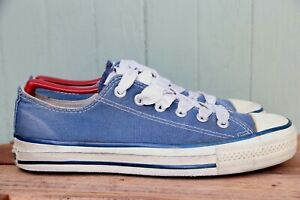 Converse All Star Made In USA Blue Canvas Low Top Athletic Casual Shoe SZ 6.5